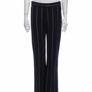 Derek Lam 10 Crosby Striped Navy Pants